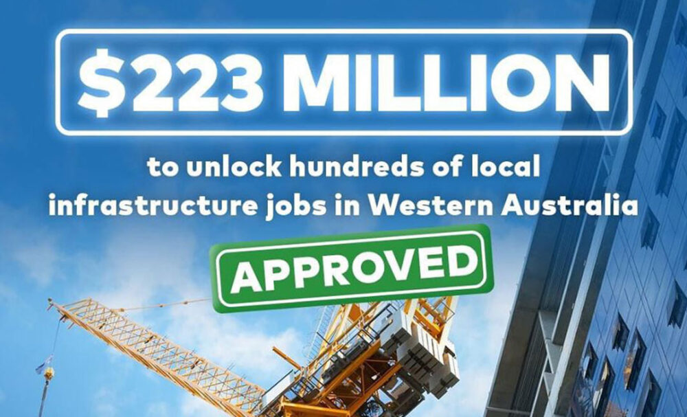 $223 Million To Unlock Hundreds Of Local Infrastructure Jobs